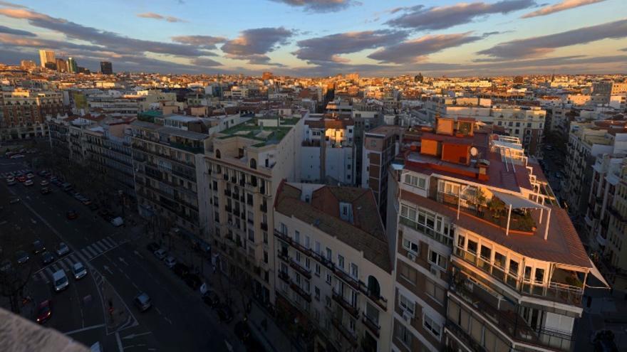 Vista de Chamberí desde la calle San Bernardo   FOTO: 93 METROS