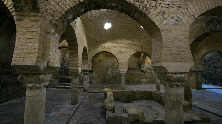 Baño Arabe En Almeria:Sala templada de los Baños Árabes de Jaén