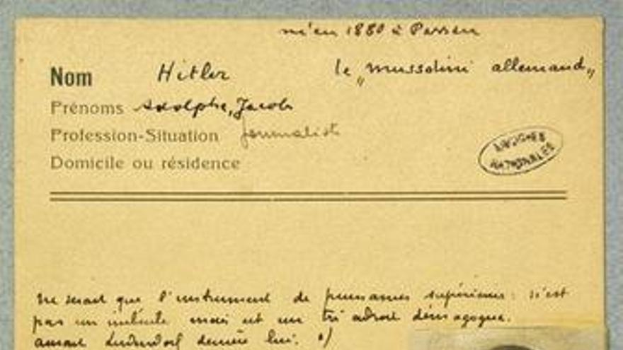 Un informe francés recomendaba no preocuparse por Hitler