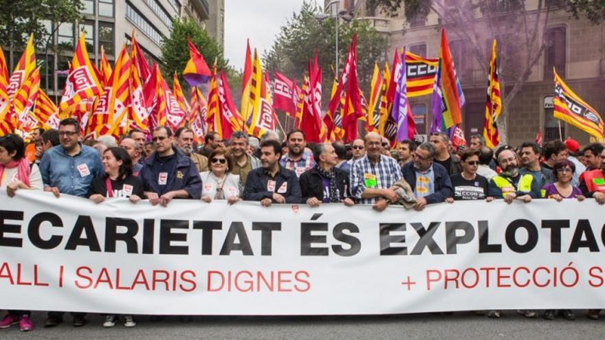 Resultado de imagen de 1 de mayo barcelona manifestacion