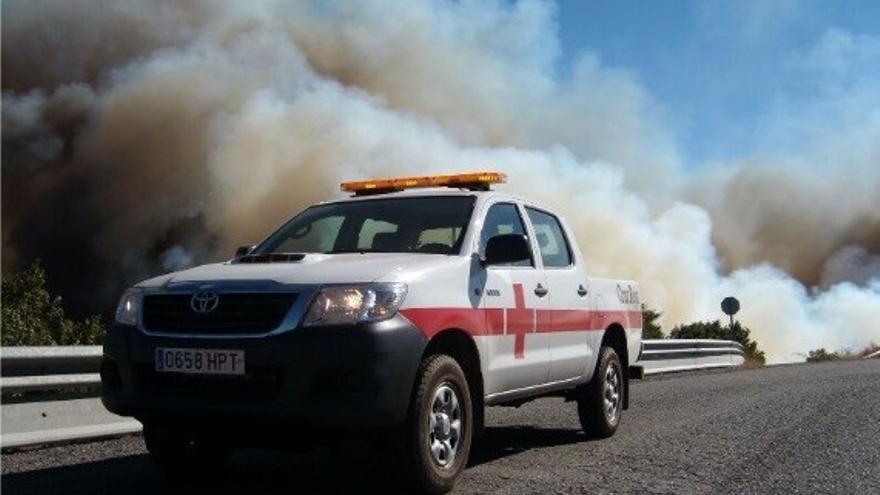 Vehículo de Cruz Roja.