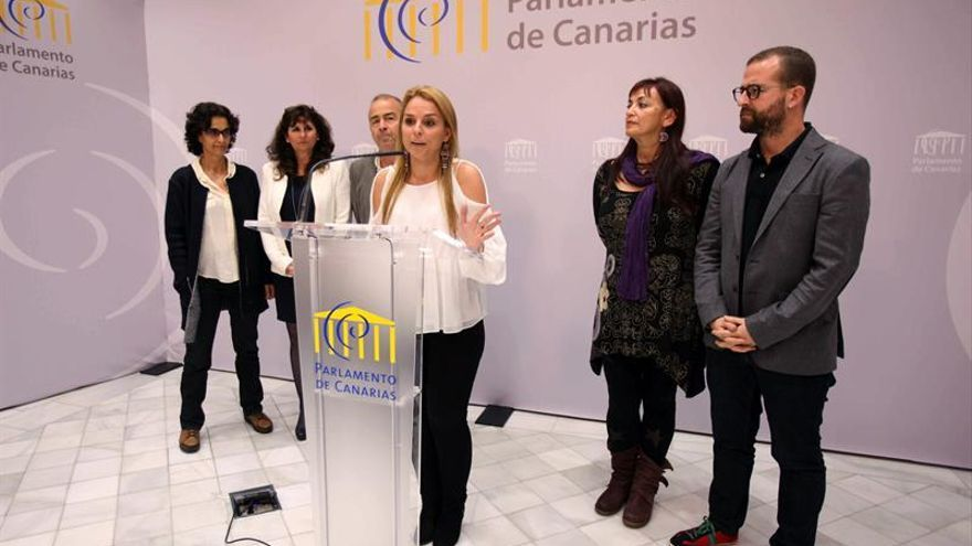 La portavoz de Podemos, Noemí Santana. EFE/Cristóbal García.