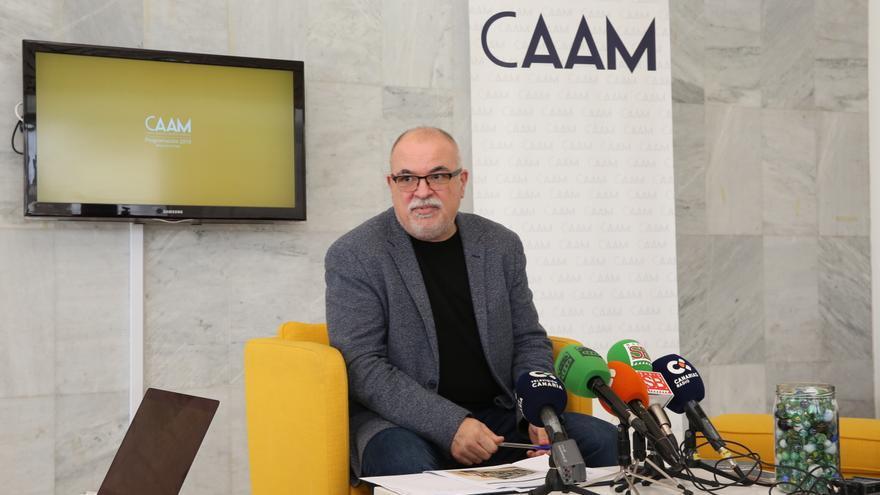 Orlando Britto, en la presentación de la programación de 2018 del CAAM. (ALEJANDRO RAMOS)
