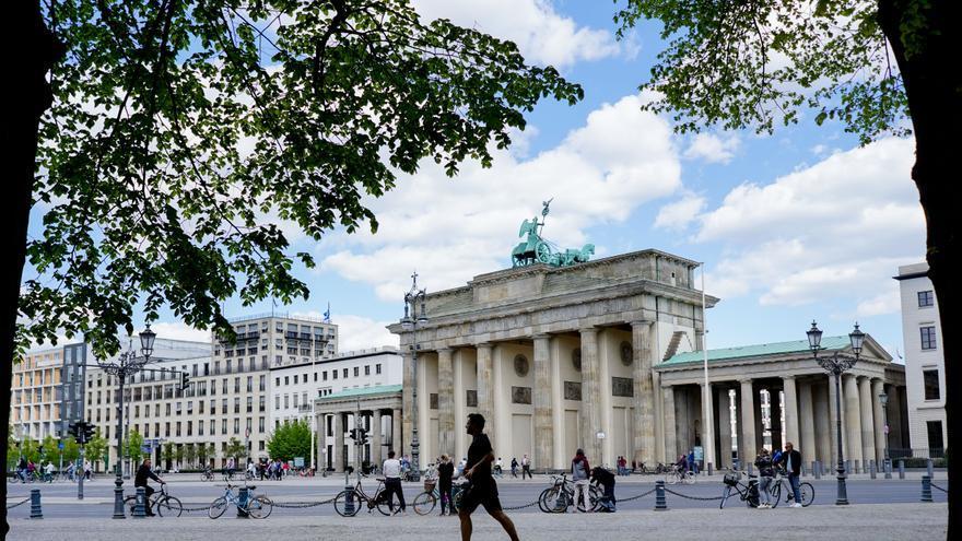 La puerta de Brandeburgo, en Berlín, el 26 de abril.