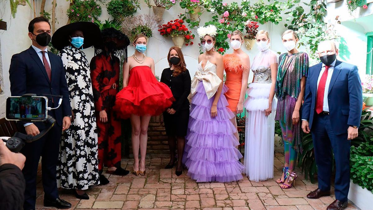 Presentación del evento de moda en los patios de Córdoba.