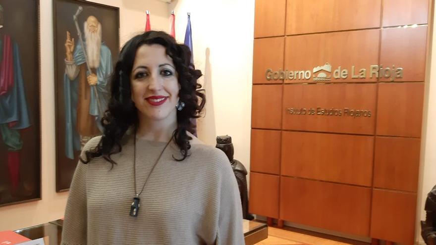 La exdiputada de La Rioja de Ciudadanos, Rebeca Grajea, en dependencias del Gobierno autonómico