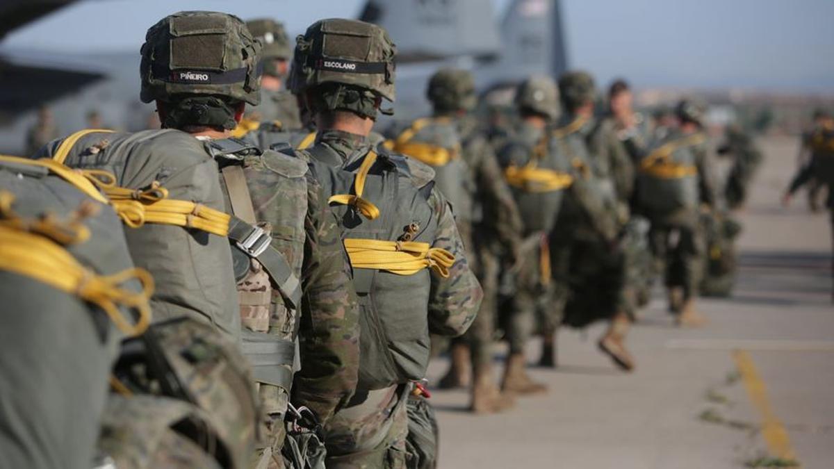 Militares durante un ejercicio.