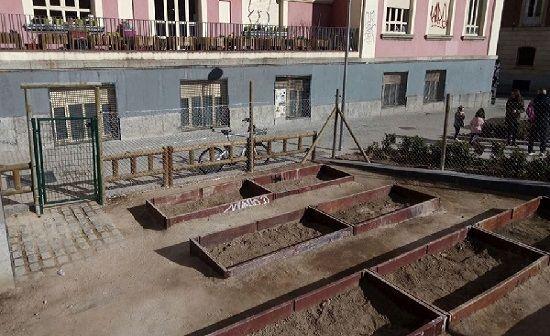 Nuevo huerto urbano de los Jardines del Arquitecto Ribera   Fotografía: JMD Centro