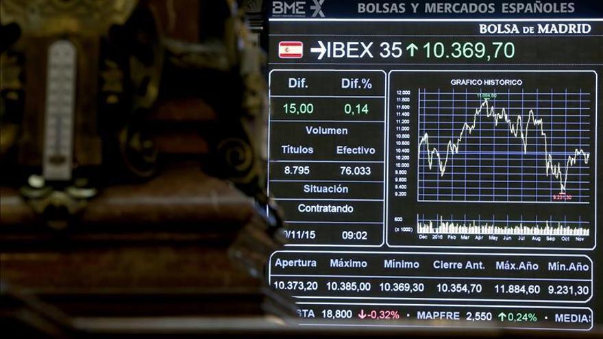 El IBEX 35 abre en negativo y cae el 0,11 % hasta los 10.192 puntos