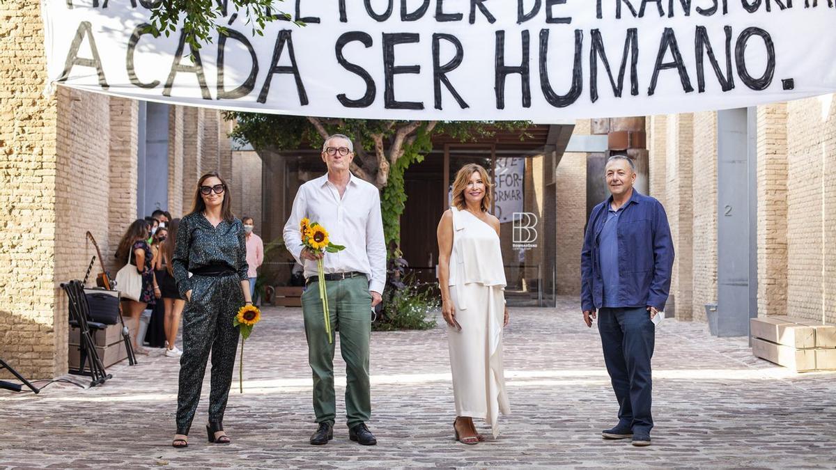 Sandra Guimarães, Thomas Hirschhorn, Susana Lloret y Vicent Todolí.