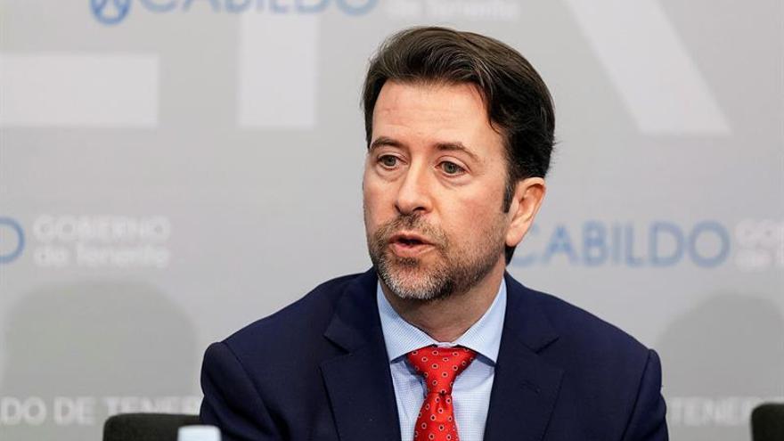 El presidente del Cabildo de Tenerife, Carlos Alonso. EFE/Ramón de la Rocha