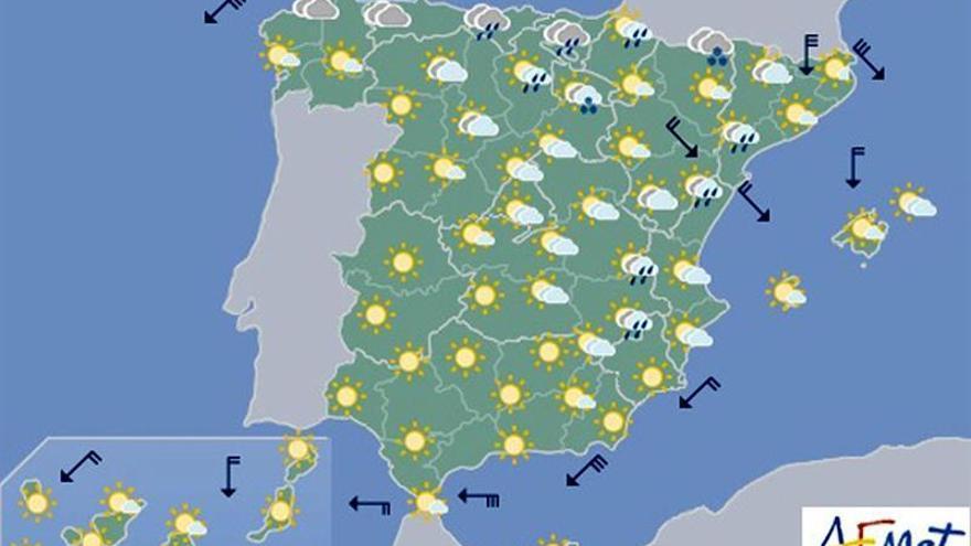 Hoy habrá nubes en el norte y descenso térmico en el interior y Baleares
