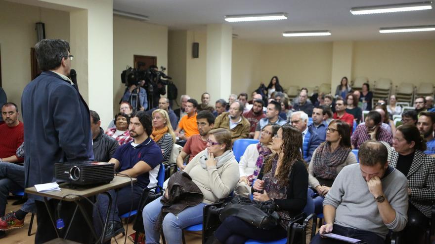 Javier Doreste en la Asamblea Ciudadana celebrada el 14 de marzo de 2016