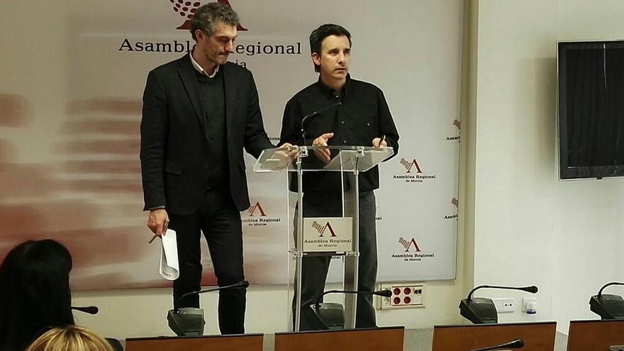 Óscar Urralburu y Antonio Urbina, GP Podemos, Asamblea Regional de Murcia
