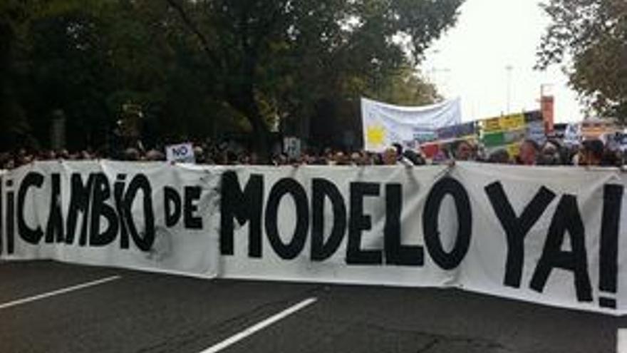 Manifestantes en Madrid. (EP)