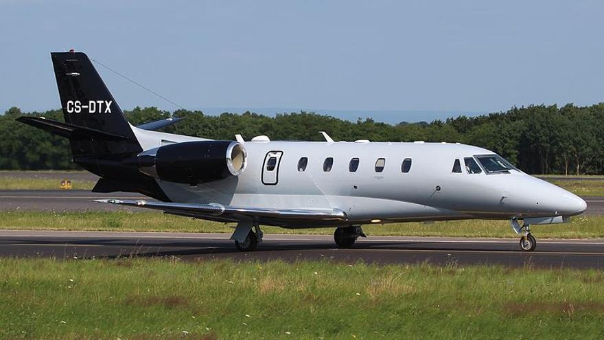 El avión adquirido por una sociedad vinculada a Botín en 2012, un Cessna 560XL Citation XLS+.