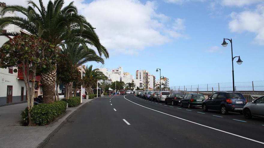 Tramo de la Avenida Marítima de Santa Cruz de La Palma que se verá afectado por el corte.