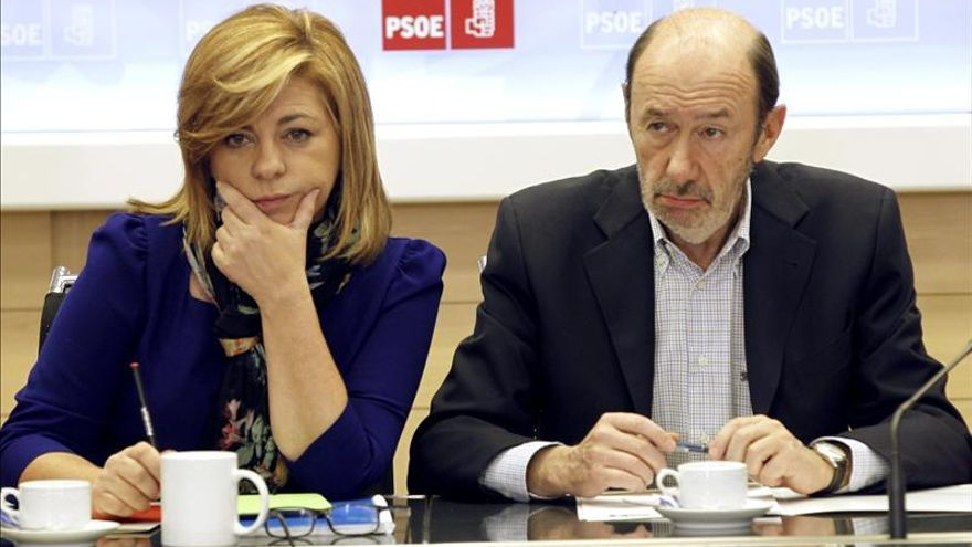 Alfredo Pérez Rubalcaba y Elena Valenciano en una imagen de archivo.