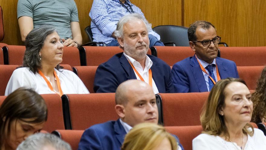 Rafael Porras, nuevo presidente del Consejo de la RTVA, y Juan de Dios Mellado, director general de Canal Sur.