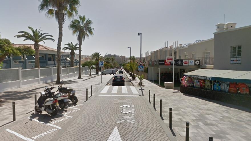 Imagen de la calle Londres, en Adeje, sur de Tenerife