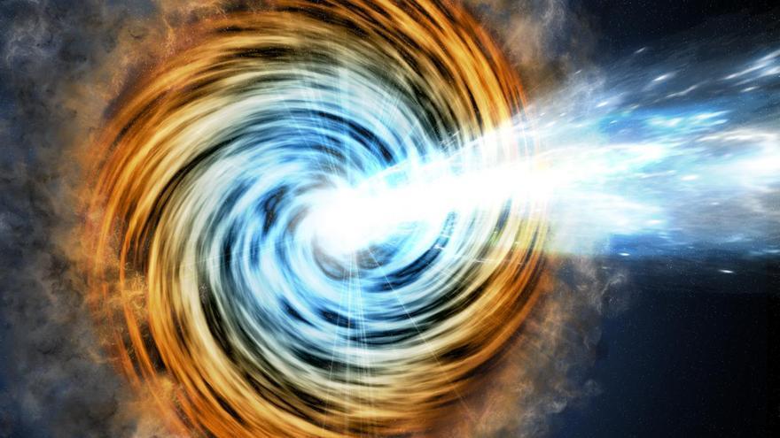 El Gran Telescopio de Canarias encuentra el agujero negro más lejano perteneciente a una rara familia de galaxias