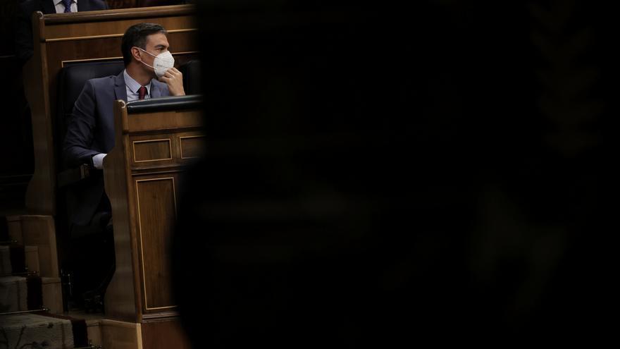 El presidente del Gobierno, Pedro Sánchez, en una sesión de control al Gobierno en el Congreso