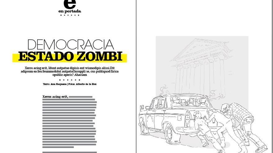 Ejemplos de páginas de Cuadernos, la revista de eldiario.es.