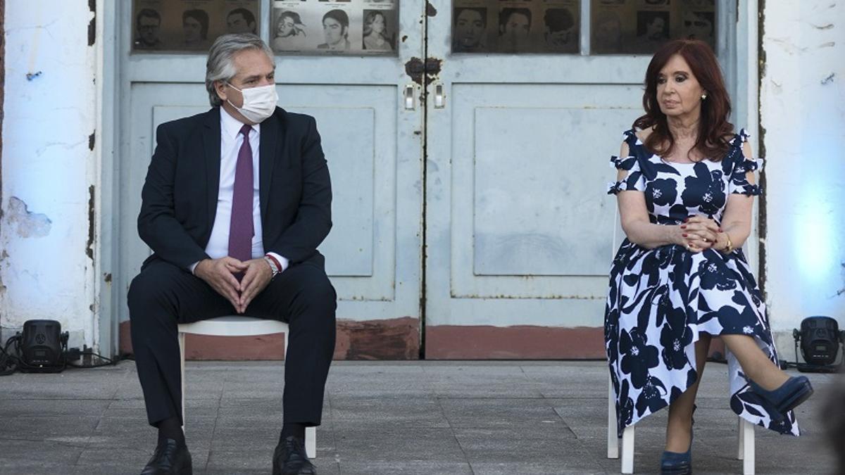 El Presidente y la vicepresidenta, en diciembre pasado. Volvían a verse después de 67 días sin hablarse.