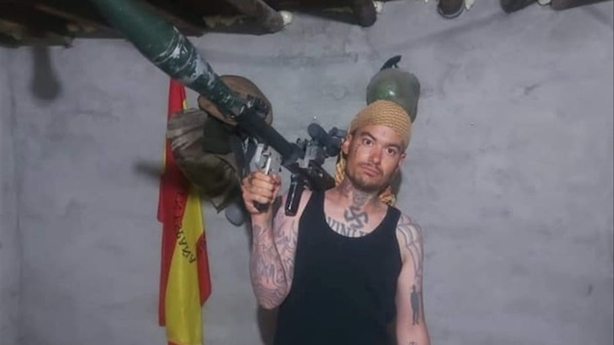 El neonazi valenciano Pablo Garrido en Siria.