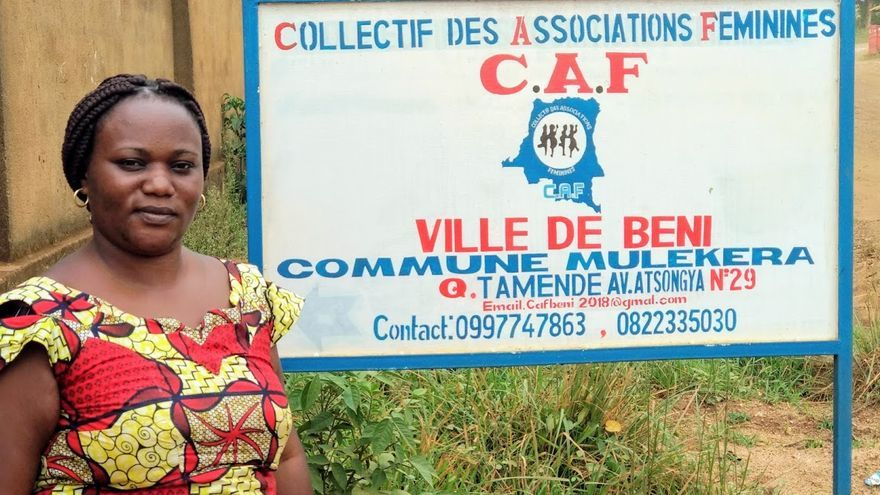 Antoinette Zawadi, coordinadora de CAF.