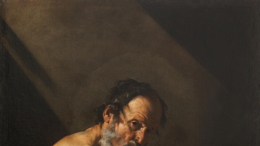 'San Jerónimo escribiendo' (1615). RIBERA, JOSÉ DE.