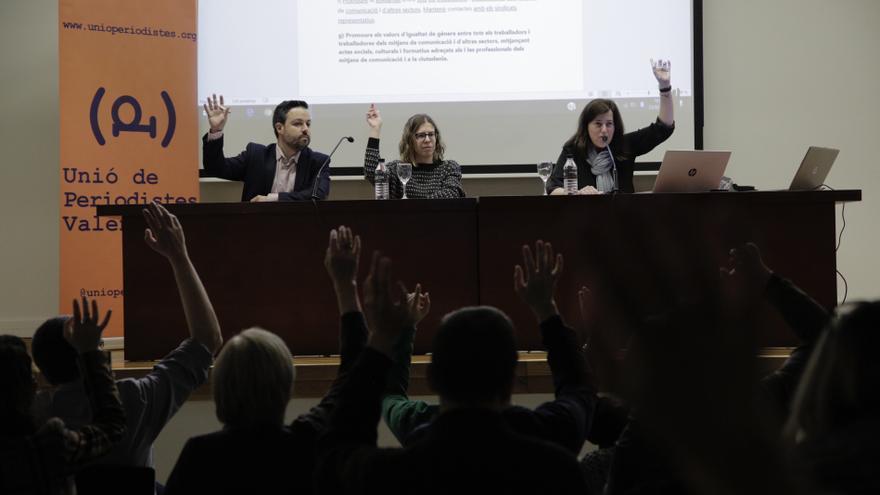 Assemblea de la Unió de Periodistes Valencians.