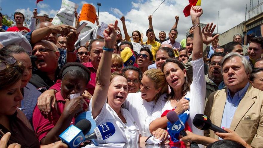 Opositores se concentran en Caracas para pedir la liberación de Ledezma