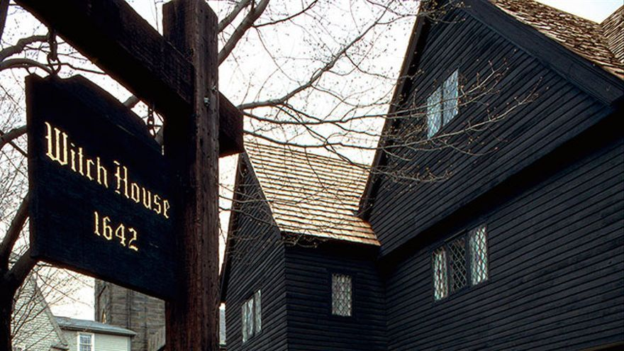 Casa de brujas en Salem, Massachusetts