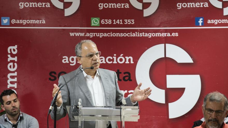 Casimiro Curbelo durante su intervención