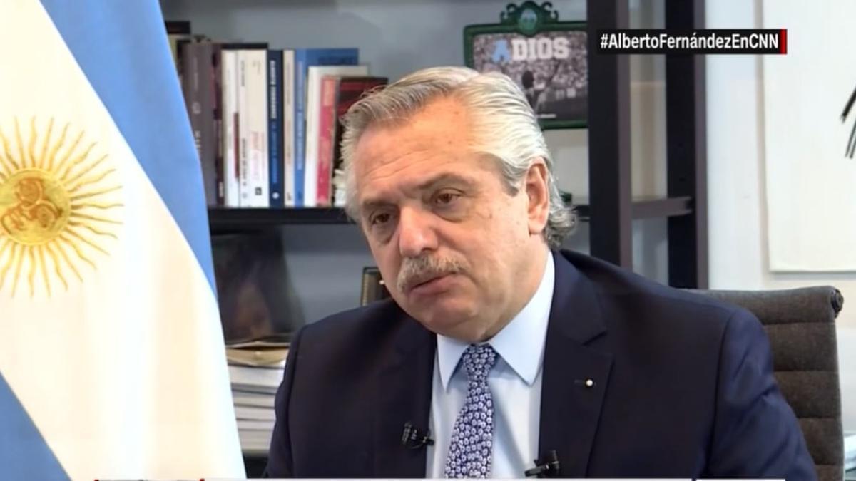 Alberto Fernández en entrevista con CNN