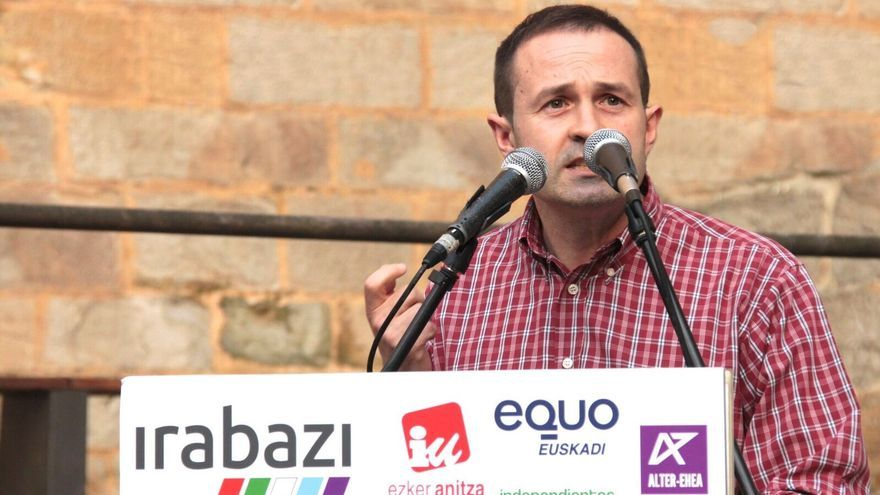 José Ramón Basterra en el inicio de campaña de Irabazi . Foto: Equo