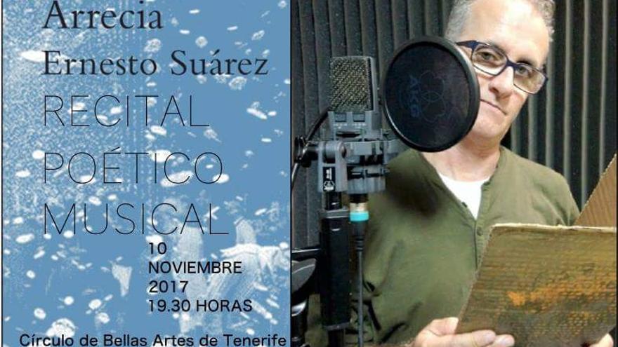 Ernesto Suárez, en el diseño para la promoción del acto