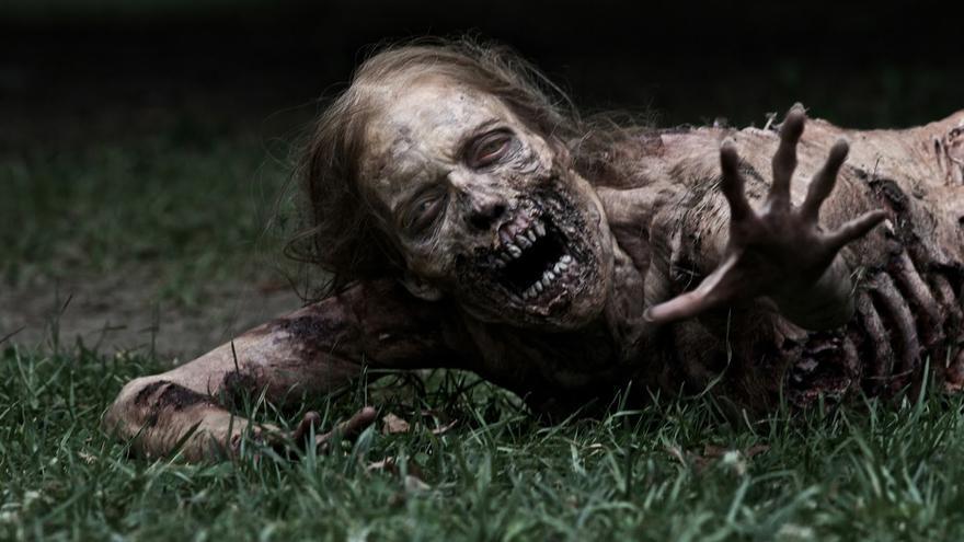 Una de las zombis más celebres de The Walking Dead