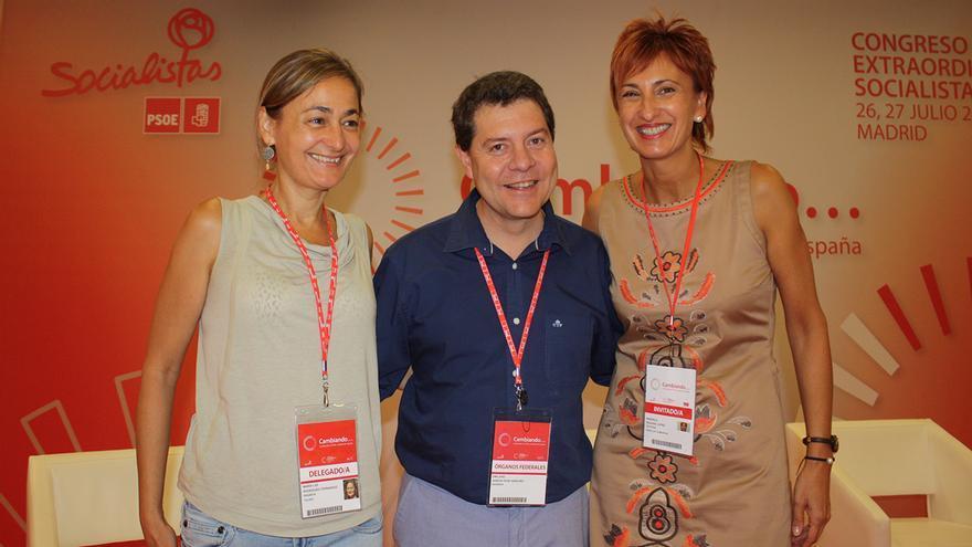 Emiliano García-Page, Mari Luz Rodríguez y Manuela Galiano. Comisión Ejecutiva Federal / Foto: PSOE CLM