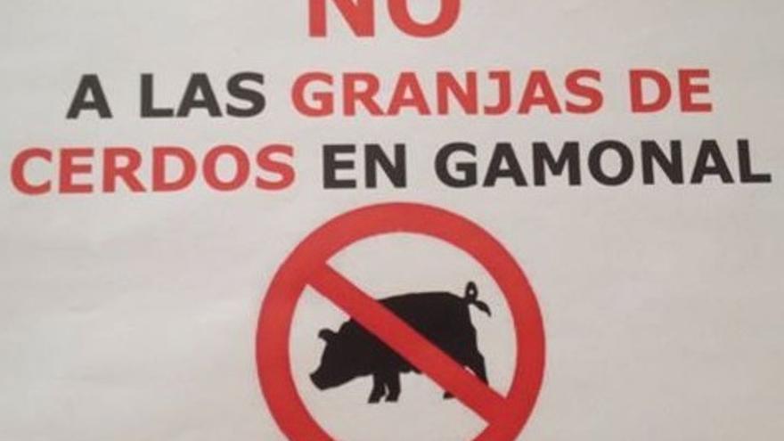 Cartel contra las macrogranjas porcinas