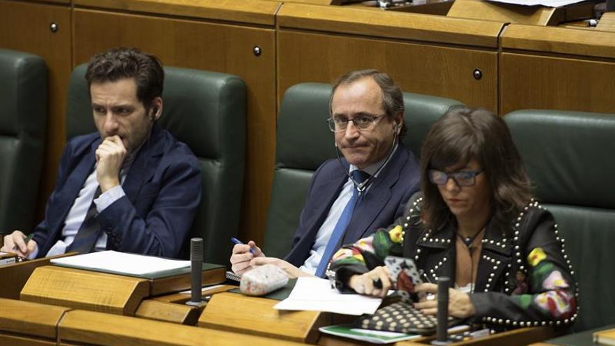 Bancada del PP en el Parlamento Vasco