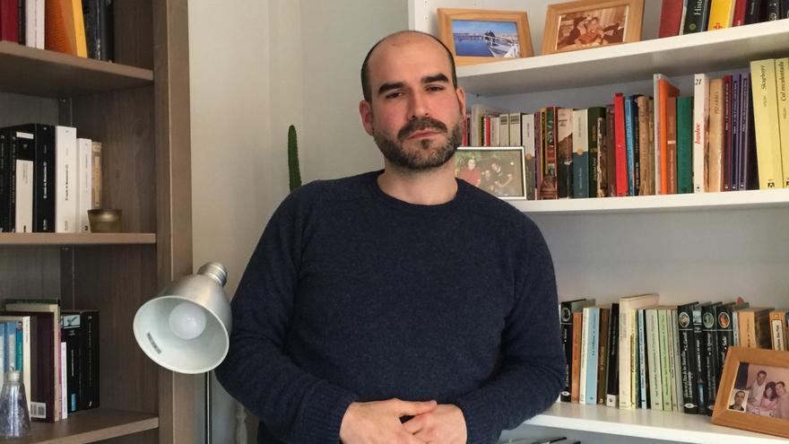 El historiador Gaizka Fernández Soldevilla, en su casa.