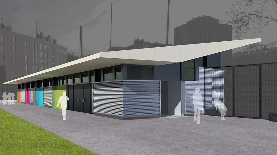 Barakaldo invierte 800.000 euros en mejoras en los campos de fútbol de Ansio y el polideportivo de Lasesarre