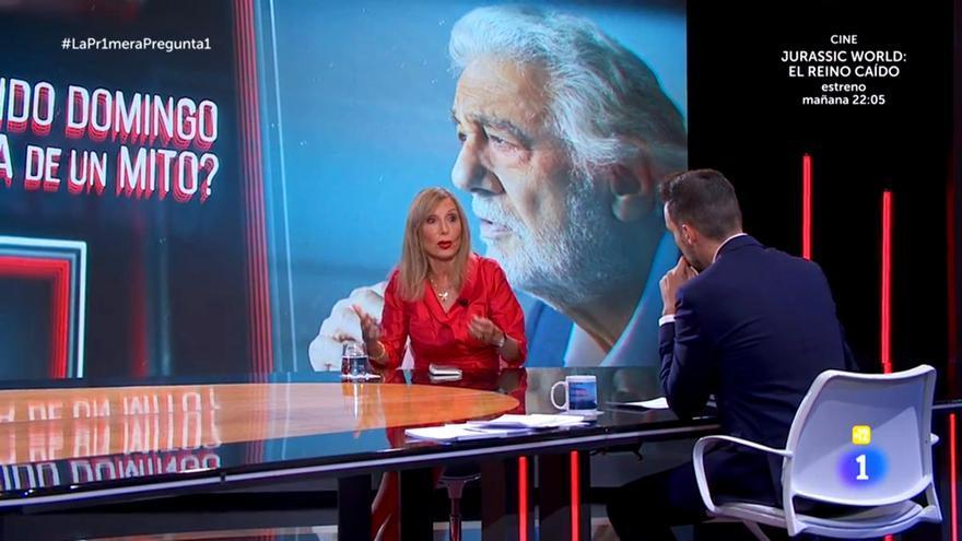 """'La Pr1mera pregunta' se estrenó marcada por la entrevista """"impostada"""" de Plácido Domingo"""