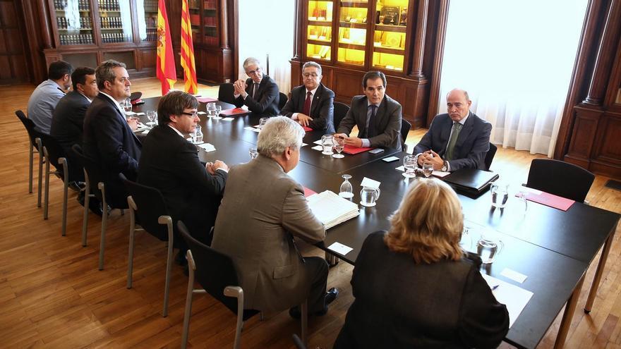 Reunión de la Junta de Seguridad de Catalunya en el Palau de Pedralbes, este 28 de septiembre.