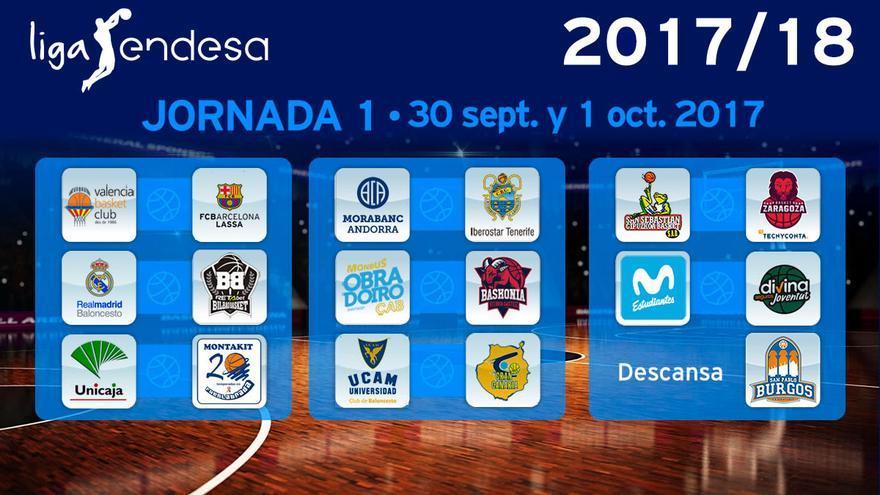 Primera jornada de la Liga ACB 2017/2018
