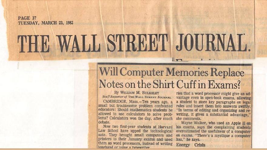 El artículo 'The Wall Street Journal'  sobre el conflicto de Downer con la Universidad de Harvard