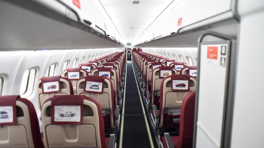 Interior del nuevo avión ATR72-600 de Binter.