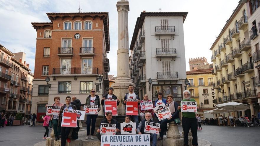 La revuelta de la España vaciada en la Plaza del Torico, Teruel
